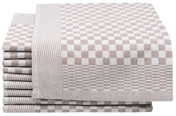 Geschirrtücher (10er-Set), 100 % Baumwolle, kariert