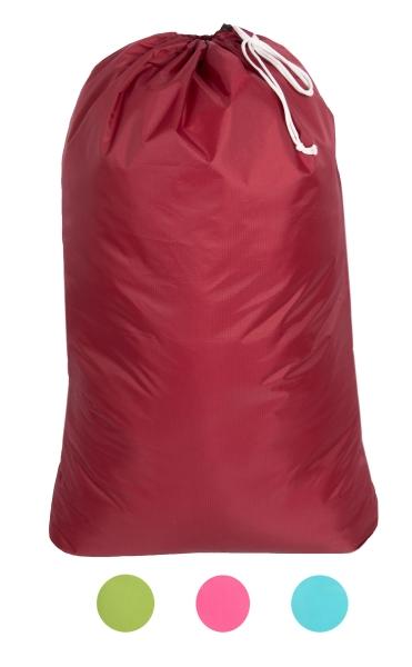 Große Wäschesack aus 100% Polyester, Größe ca. 62x93 cm, verfügbar in den Farben grün, türkis, rot oder pink