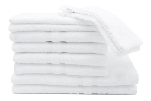 Handtuchset (6-tlg), 100 % Baumwolle, weiß