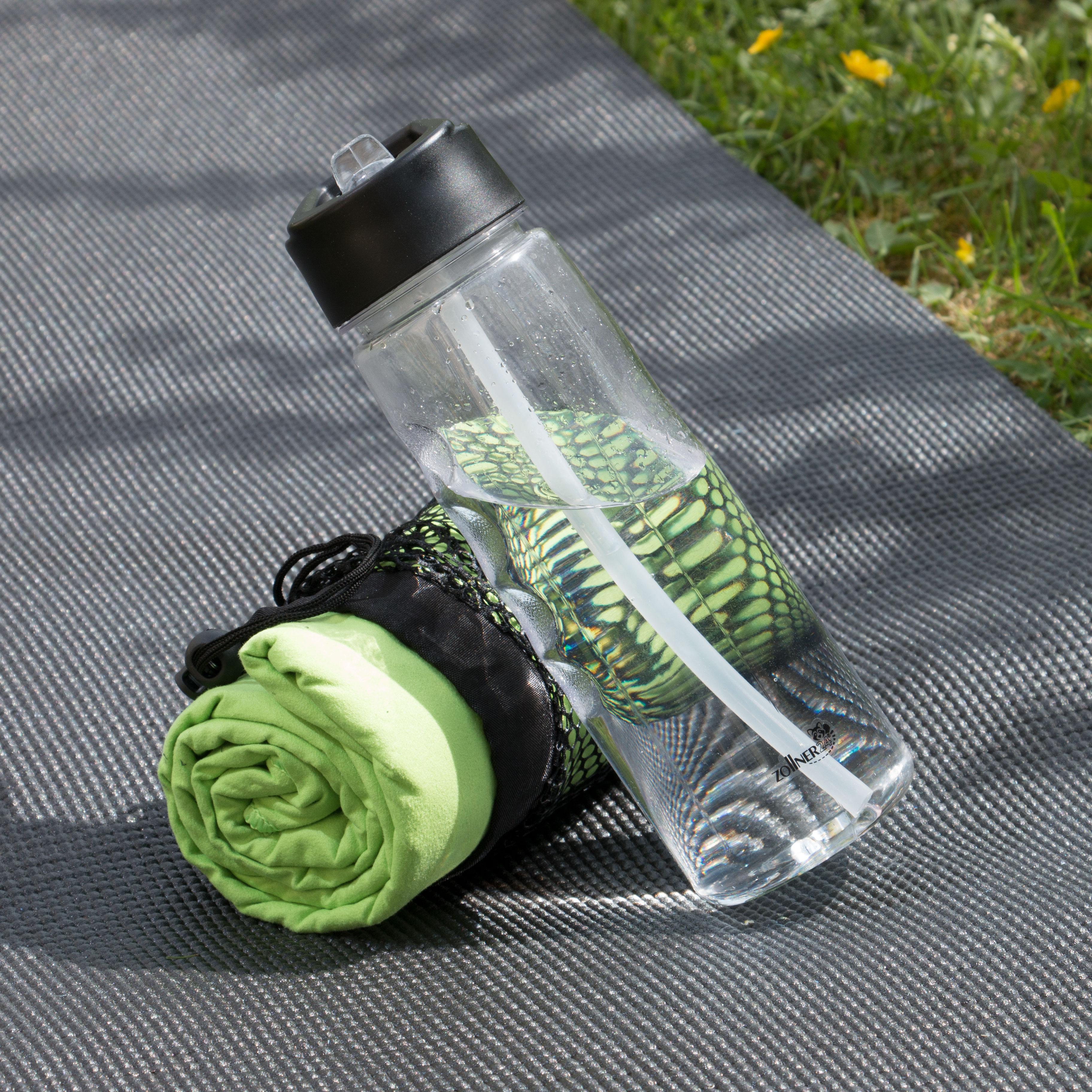 Trinkflasche mit Strohhalm, 750 ml