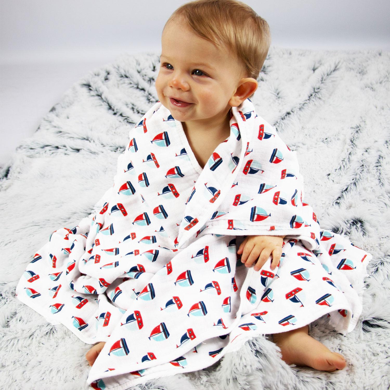 Babydecke 100% Baumwolle, 120x120 cm, versch. Farben