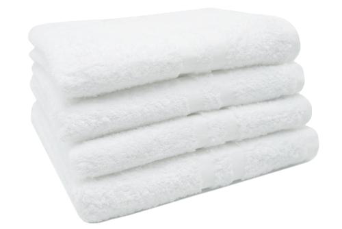Handtücher (4er-Set) 100% Baumwolle, 50x100 cm, weiß, gelb