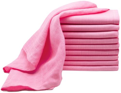 Spucktücher (10er-Set), 100% Baumwolle, rosa