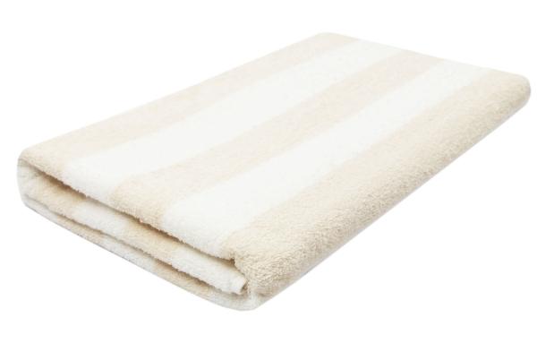 Saunahandtuch, 100 % Baumwolle, gestreift