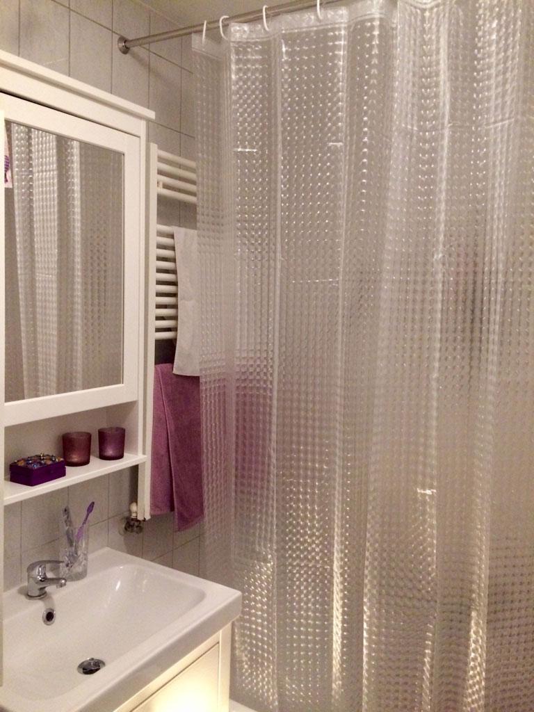 Duschvorhang in 3D-Optik, 100 % EVA, ca. 180x200 cm