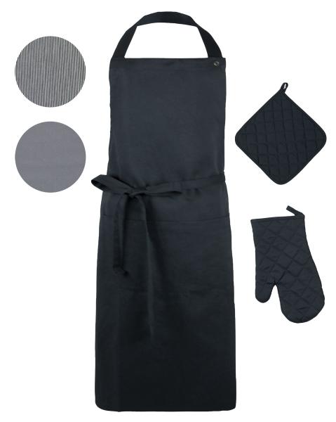Küchenstarter Set (3-tlg.), 100 % Baumwolle, versch. Farben