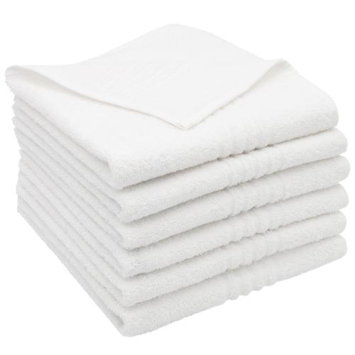 Handtücher (6er Set), 100% Baumwolle, weiß