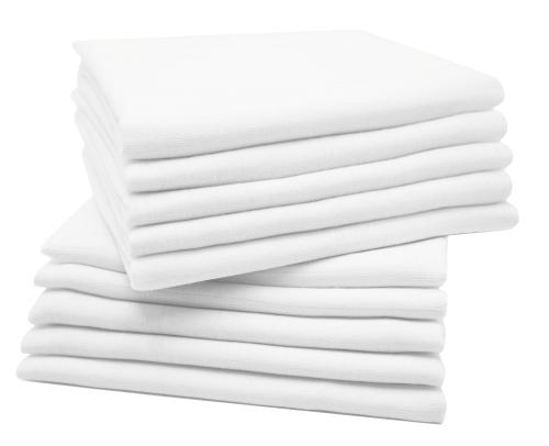 Mullwindeln (5er/10er-Set), weiß, 100% Baumwolle