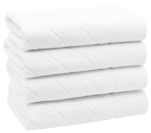 Handtücher (4er-Set), 50x100 cm, Baumwolle, weiß