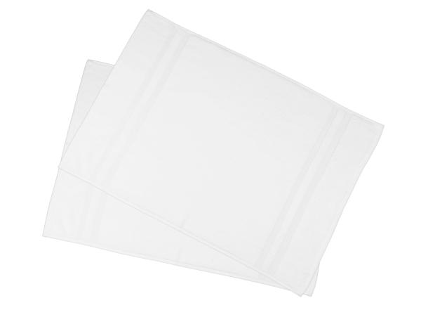 Badvorleger (2er-Set), 100 % Baumwolle, weiß