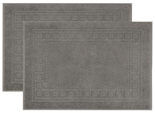 Badevorlage (2er-Set) 100% Baumwolle, versch. Farben