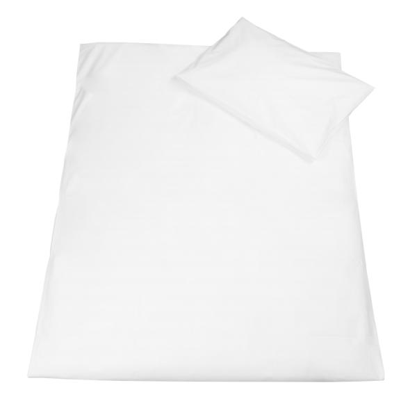 Kinderbettwäsche (2-tlg.) 100 % Baumwolle, 40x60 cm + 100x135 cm, weiß