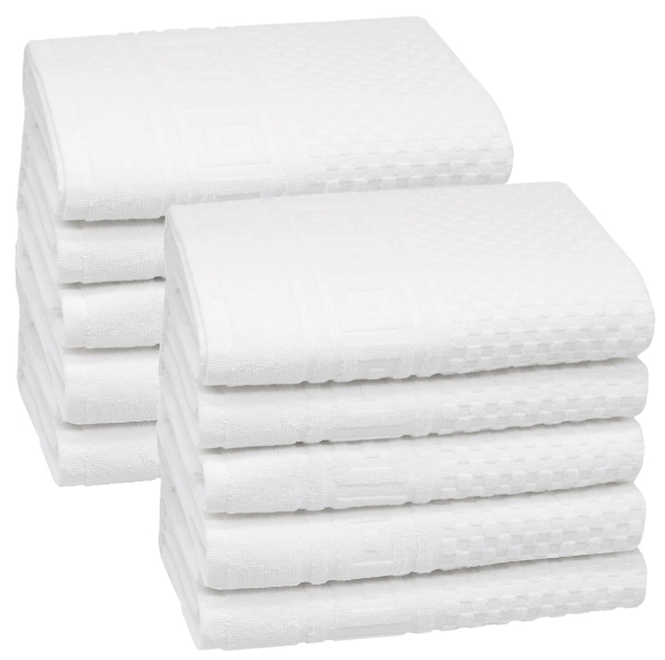 Handtücher mit Waffelmuster, 100 % Baumwolle