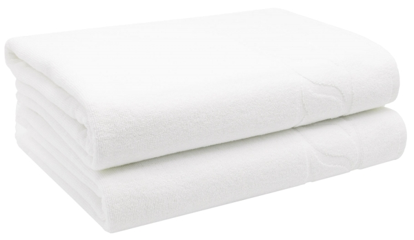 Badetücher (2er-Set), 100% Baumwolle, 100x150 cm, weiß