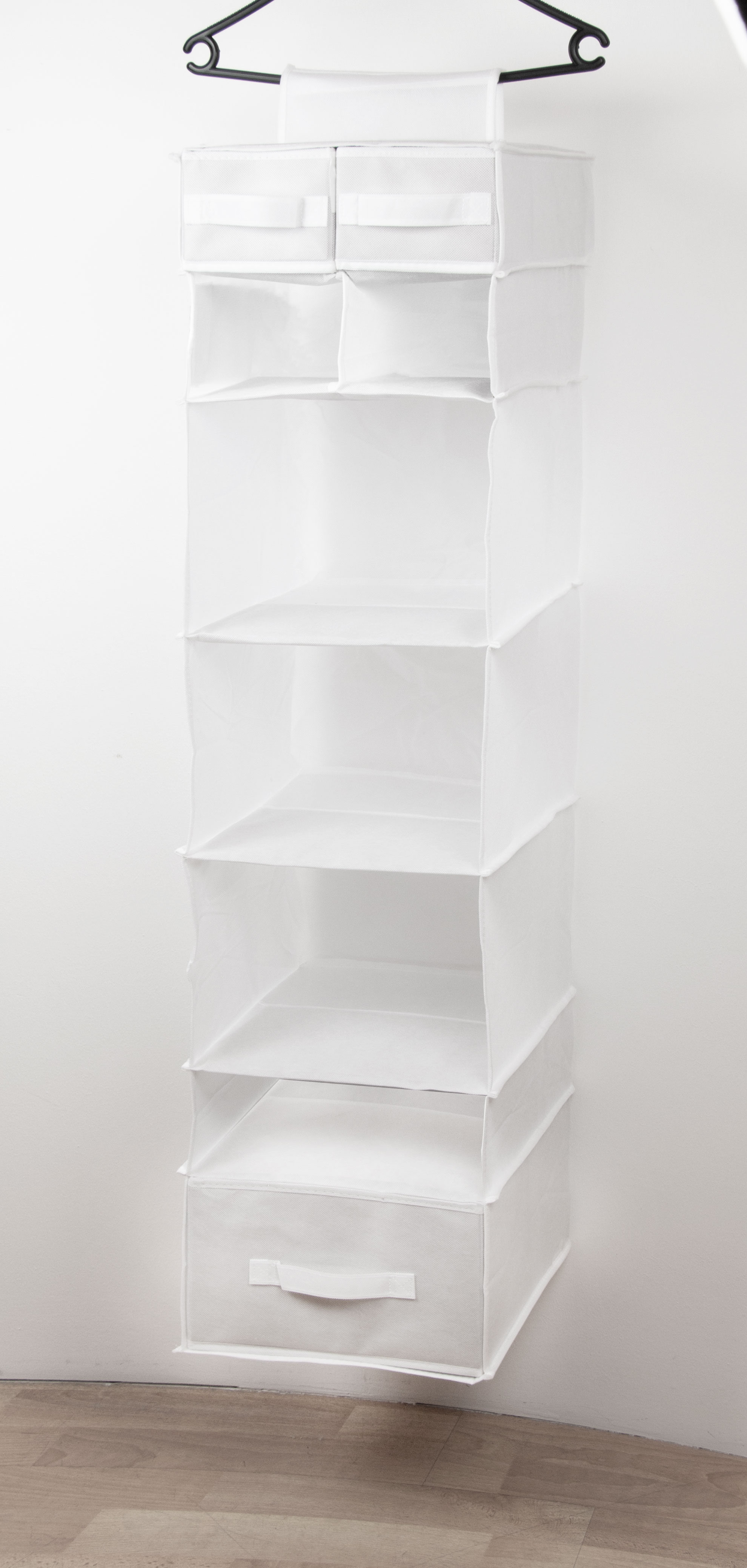 Hängeregal Kleiderschrank, 30x30x15 cm, weiß