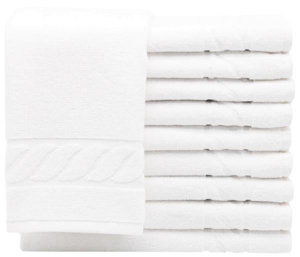 Gästehandtücher (10er-Set), 100% Baumwolle, 40x60 cm