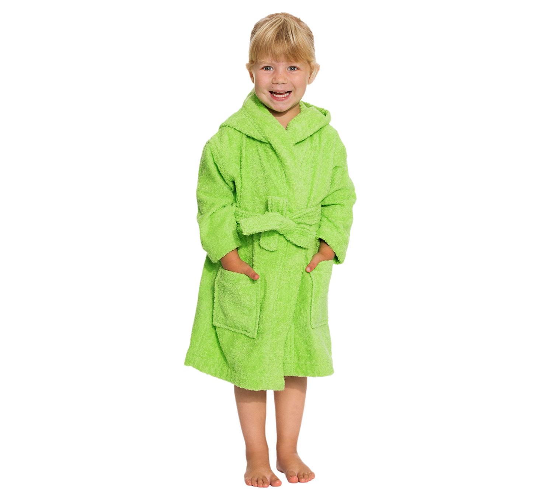 Kinderbademantel, 100 % Baumwolle, versch. Farben