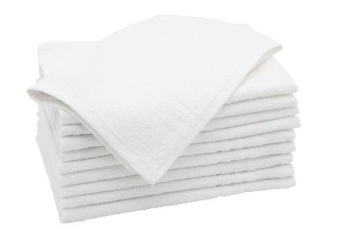 Gästehandtücher (10er Set), 100% Baumwolle, weiß